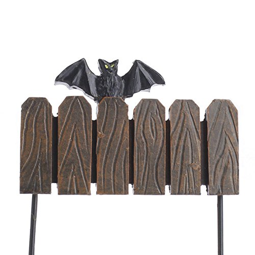 4 Piece Collection of Wood Look Dog Eared Style Fence wit...