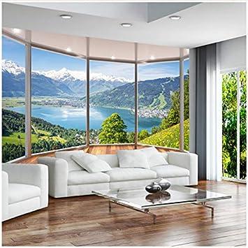 Cczxfcc Benutzerdefinierte 3d Fototapete 3d Balkon Boden Fenster