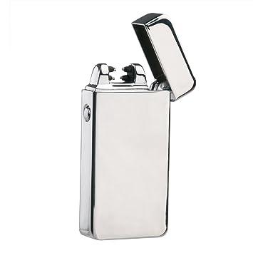 OULII Regalo del día de encendedor encendedores eléctricos USB recargable encendedor doble arco pulso cigarrillo Metal ligero de San Valentín para ...