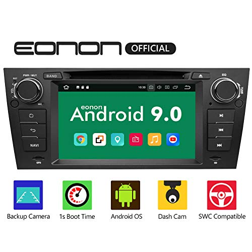 2019 Eonon Android 9.0 Car Stereo Radio, 32GB ROM Radio Applicable to 3 Series 2005,2006,2007,2008,2009,2010 and 2011(E90/E91/E92/E93) 7 Inch Support Bluetooth, WiFi, Fastboot -GA9365