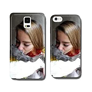 Girl with dog cell phone cover case iPhone6