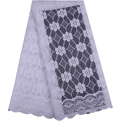 French Pure White Milk Silk Lace Fabric 2019 African Flannel Lace Fraric with Beads for Nigerian Wedding A1505,As picture5