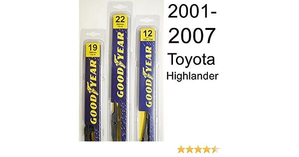 Amazon.com: Toyota Highlander (2001-2007) Wiper Blade Kit - Set Includes 22