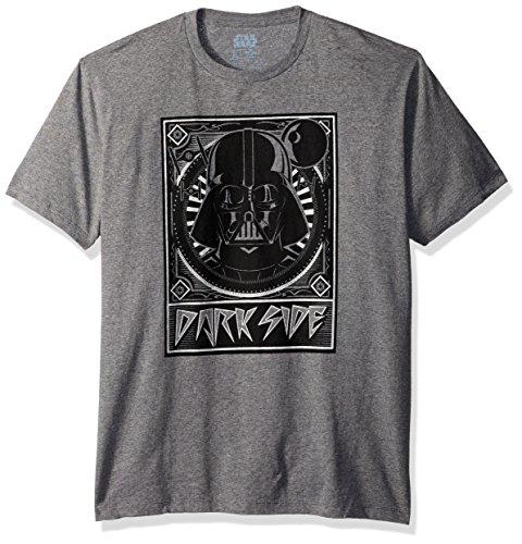 Star Wars Men's Darth Vader Helmet in Art Deco Frame T-Shirt, Carbon Tricolor, Small