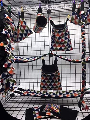 The Kozy Kritter 15 Piece Multi Color Triangle Sugar Glider Cage Set