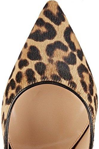Emiki Women Leopard Floral Print High Heels Suede Pointed Toe Stilettos Pumps Elegant Slip On Party Shoes Customized BlReHnn7Fn