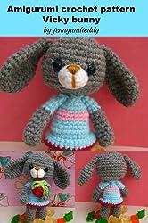 Amigrumi crochet pattern vicky bunny rabbit (English Edition)
