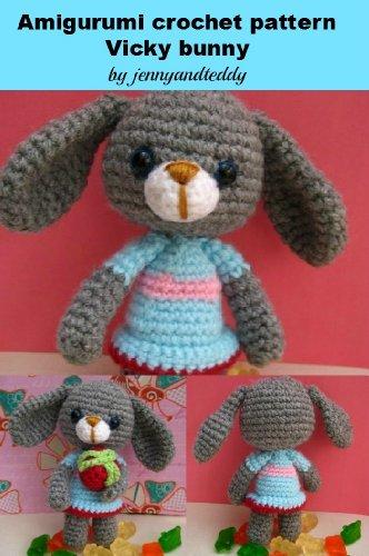 Amigrumi crochet pattern vicky bunny rabbit