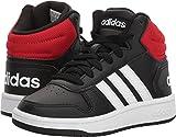 Adidas Unisex-Kids VS Hoops Mid 2.0 K, Black/White/red, 12.5 M US Little Kid