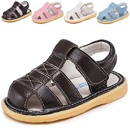 Pictures of LONSOEN Toddler Boy Girl Summer Outdoor Closed- 5