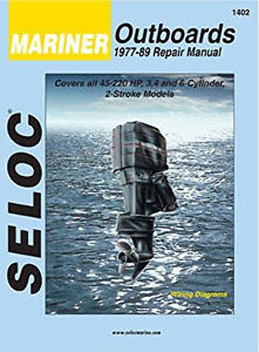 MARINER Outboard 1977-1989, 3, 4 & 6 Cylinder Repair Manual 1989 Outboard Repair Manual