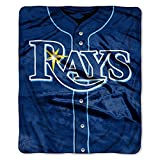 Rays OFFICIAL Major League Baseball, Jersey 50 x 60 Raschel Throw