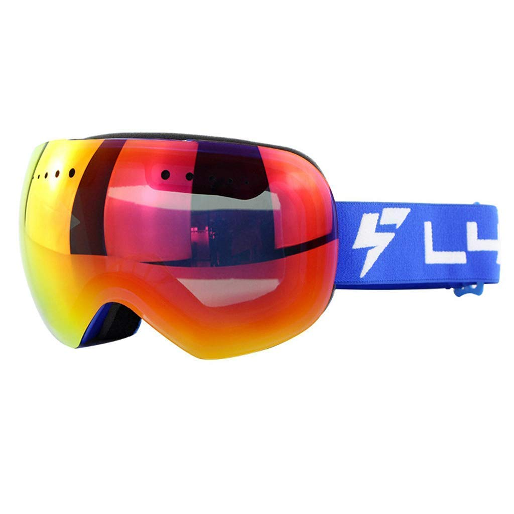 C Exquisite goggles Ski Goggles Sports Glasses Glasses Borderless Spherical Double-Layer Windproof And Anti-Fog High-End HD GogglesJBP52 (color   C)