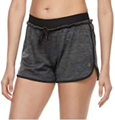 08742ca638ed5 Women's Athletic Exposed Elastic w/Drawstring Running Yoga Workout Gym  Shorts - in Charcoal or
