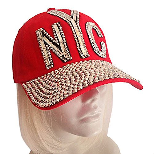 Comet Lighting (Red Hat Society by Luke Song Rhinestone Encrusted Fitted