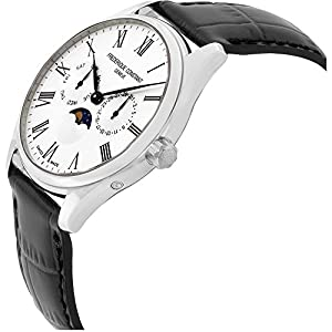 Frederique Constant Mens Classic Silver Dial Leather Band Watch FC260WR5B6