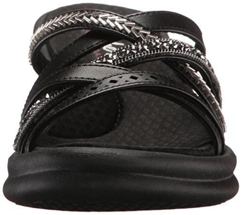 Skechers Damen rumbler Wave-New Lassie Sandalen Schwarz (Black)