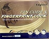 Digi Electronic Biometric Fingerprint + Keypad Door Lock, Chrome 6600-97 (Right Handle Door Lock)