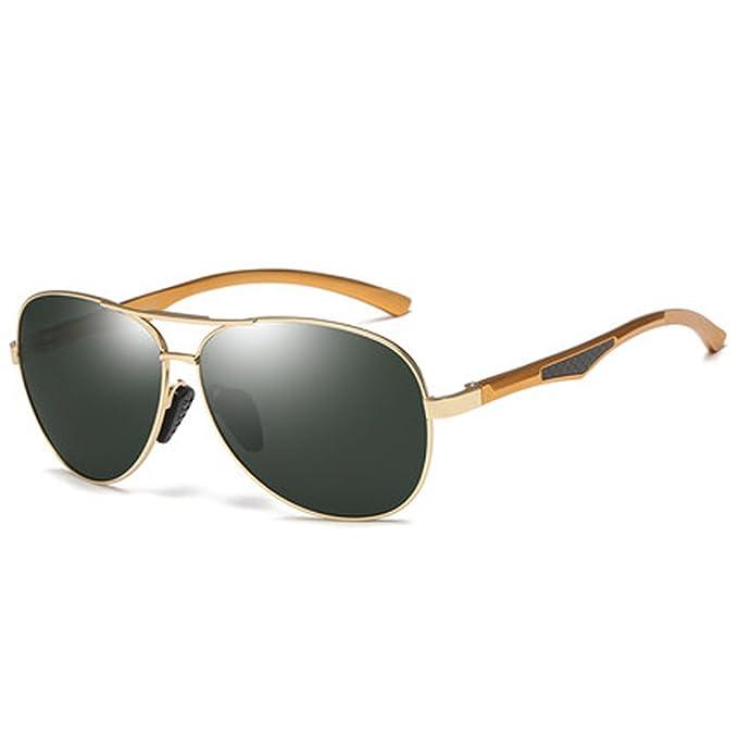 2c30817690 Gafas de sol polarizadas Piloto Lens Driver Mirror Espejo de conducción  Driving Sunglasses Gafas para hombre Retro Polarizer, C: Amazon.es: Ropa y  ...