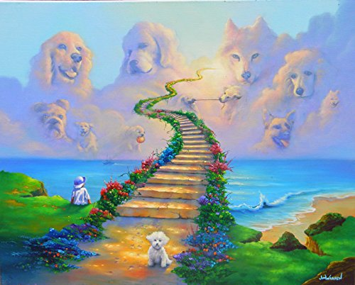 Art animal Heaven dog Oil Painting Prints on Canvas Wall Art Picture for Living Room Home Decorations