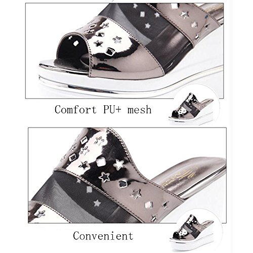 Bottom color Slippers For Size Eu38 2 Outdoor 54 Summer 9 Shoes Cm Colors 5 Women 3 Female In cn38 B B Fashion Haizhen Beach Sandals Thick uk5 pwpqHz