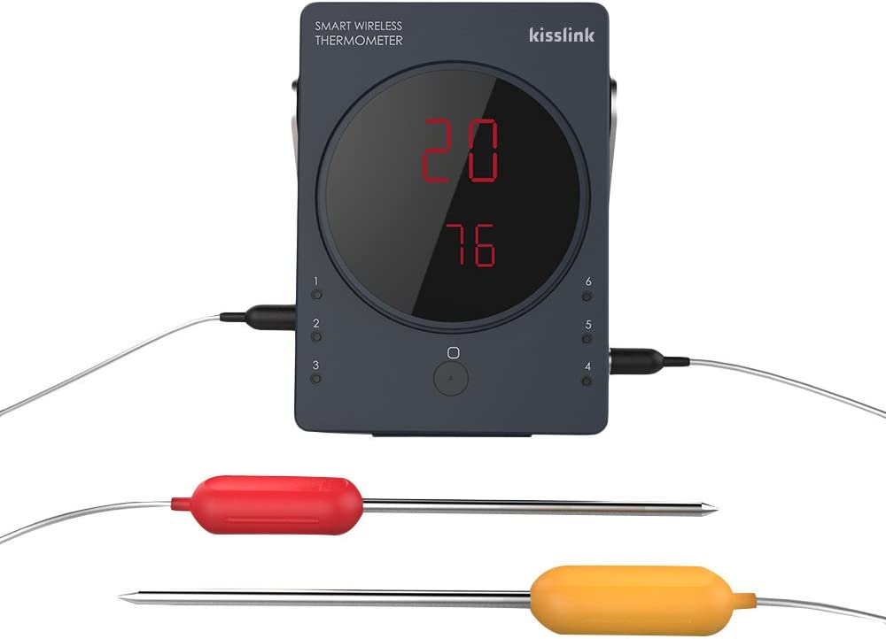 kisslink Smart Grill Pro 6-Channel Bluetooth Wireless Thermometer