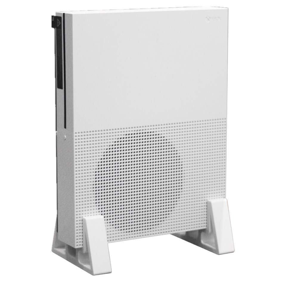 Vertical Stand Mount Holder for Xbox One S White by Beracah