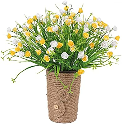 Bouquet Fiori Gialli.Amazon Com Akomatial Artificiali Fiori Finti 1pc Realistica