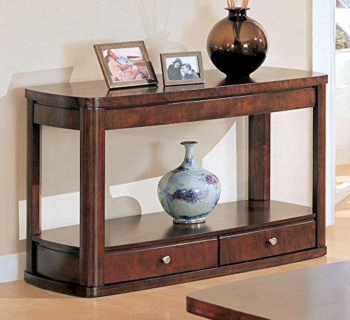 Coaster Contemporary Merlot Sofa Table with Storage (Merlot Tables Nesting)