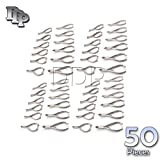 DDP SET OF 50 PROFESSIONAL MOON SHAPE TOENAIL CLIPPER CUTTER CHIROPODY PODIATRY INSTRUMENTS
