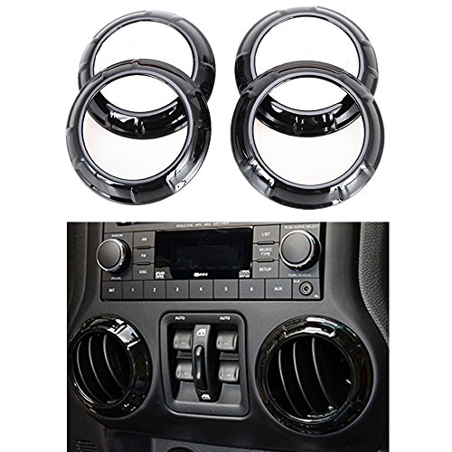 4 Door Air Conditioning - Bentolin New Interior Accessories Black Decoration Trim For Jeep Wrangler 4 Door 2011-2015 (For Air Conditioning Vent)