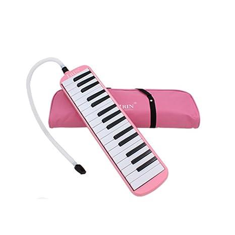 Elenxs 32 teclas de piano Melódica del órgano de boca de la armónica del instrumento musical