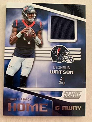- 2019 Score Home and Away (Home) Football Jersey #9 Deshaun Watson Houston Texans Official NFL Trading Card From Panini