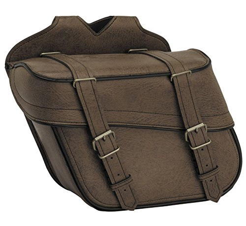 River Road Classic Slant Saddlebags with Quick Release Straps 109105
