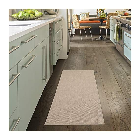 Ottomanson Jardin Collection Solid Design Runner Rug, 2' x 5', Cream - VERSATILE: Robust construction makes it ideal for high-traffic areas indoor or outdoor. DURABLE and LONG LASTING: Power-loomed in Turkey with %100 polypropylene. LOW-PILE HEIGHT is non-shedding and ideal for homes with pets and high-traffic. - runner-rugs, entryway-furniture-decor, entryway-laundry-room - 51gZWjmaSNL. SS570  -