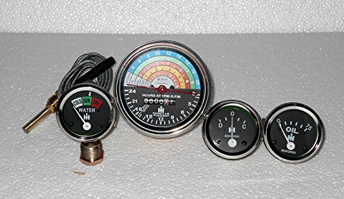 IH Tractor- IH B250 B275 B414 276 Tachometer Temp Oil for sale  Delivered anywhere in USA