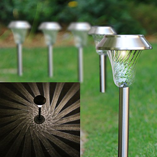 Solar Path Lights Stainless Steel