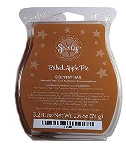 Scentsy Baked Apple Pie Wickless Candle Tart Warmer Wax, 3.2 fl oz