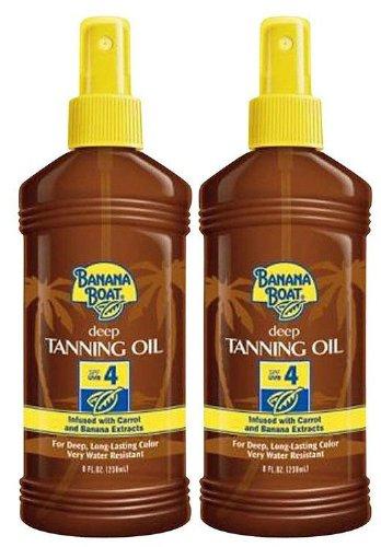 Banana Boat Dark Tanning Oil Spray SPF 4 Sunscreen, 8 oz