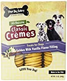 Three Dog Bakery 13-Ounce Classic Cremes Golden with Vanilla Filling Baked Dog Treats(2Pack)