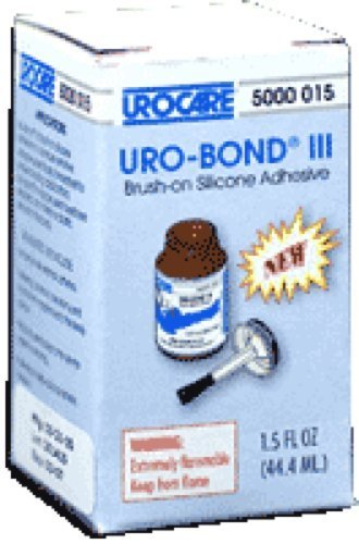 Urocare Products Inc Products Uro-Bond III Brush-on Adhesive 1-1/2Oz Glass Jar, Silicone Based, Flammable, Water Resistant (Jar of 1 Jar) by Urocare (Urocare Uro Bond)