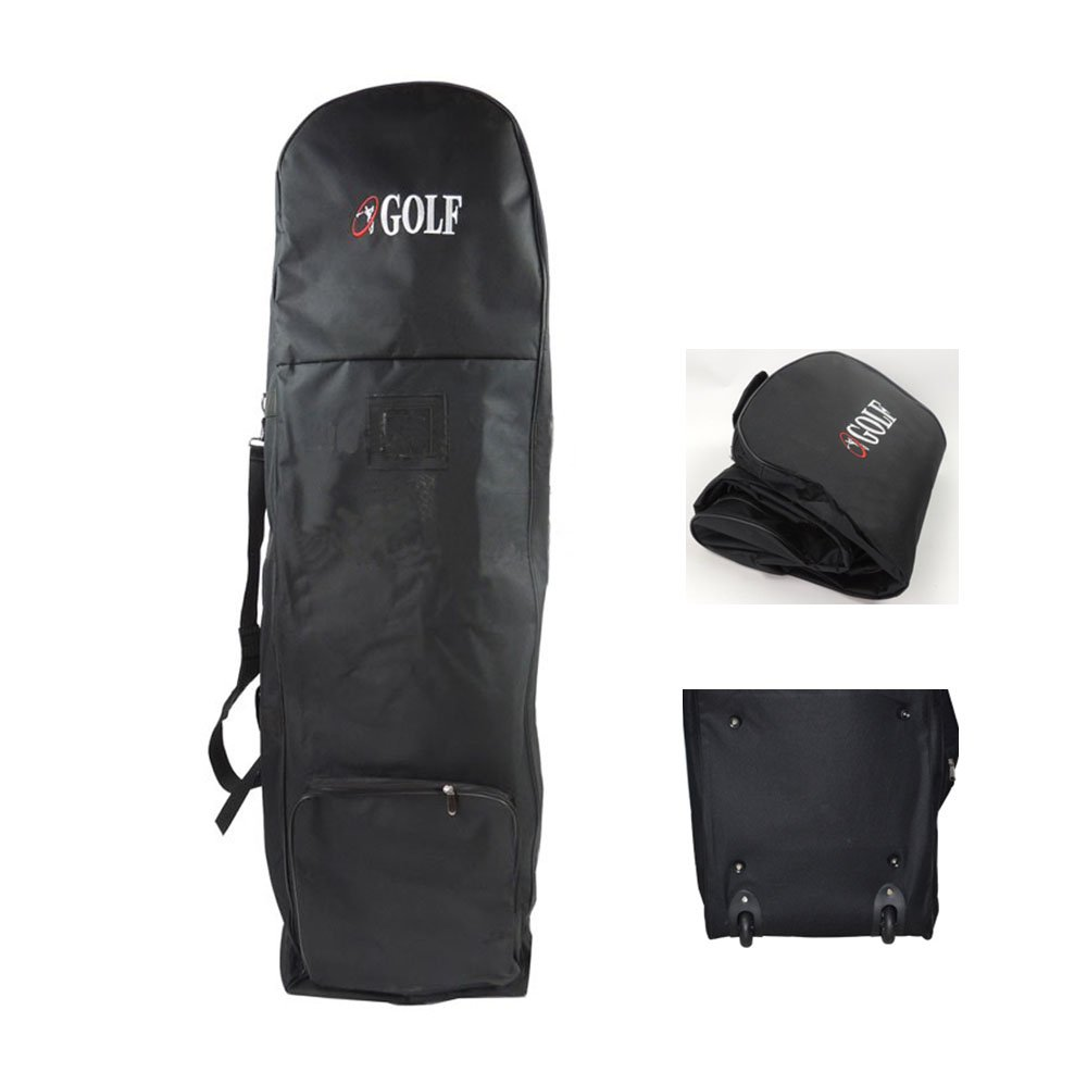 PLAYEAGLE Durable Nylon Waterproof Black Golf Travel Cover Bag with Wheels for Taylormade,Titleist and More Brand by PLAYEAGLE (Image #2)