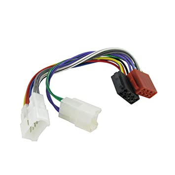 51gZXkbzT9L._SY355_ amazon com wiring lead harness adapter for toyota iso stereo plug wiring harness adapter toyota camry at gsmx.co