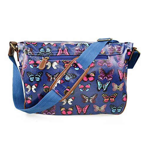 SATCHEL BAG MISS HAND LULU SCHOOL CROSS OILCLOTH BODY FLORAL SKULL Navy Butterfly DOTS SHOULDER POLKA OWL zHrOFwxzq