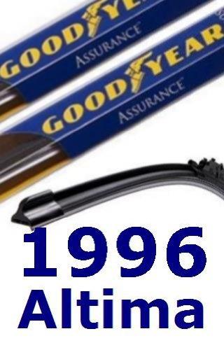 1996 Nissan Altima Reemplazo del limpiaparabrisas (2 cuchillas)