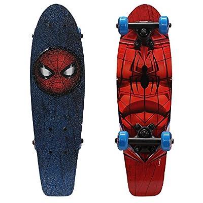 "PlayWheels Ultimate Spider-Man 21"" Wood Cruiser Skateboard, Spidey Eyes from Bravo Sports"