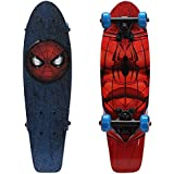 "PlayWheels Ultimate Spider-Man 21"" Wood Cruiser Skateboard, Spidey Eyes"