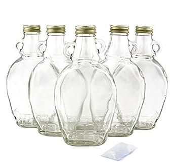 Amazon.com: 8oz Bulk Jarabe de aspiradora botellas de vidrio ...