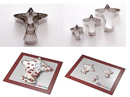 Euro Tins - Lote de 3 moldes para Cortar Galletas con Forma de avión