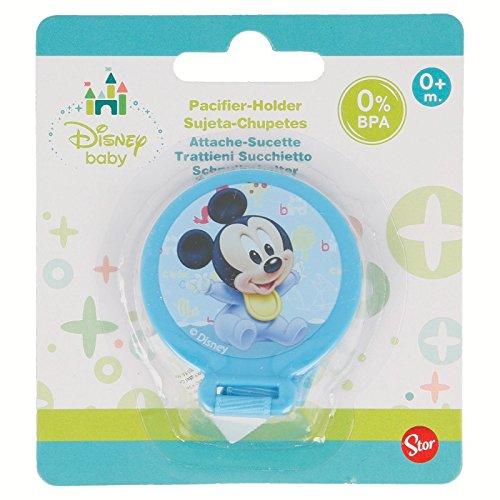 Gé né rique - Attache Sucette Tututte Mickey Disney Baby Bleu 0% BPA - Bebe Tetine Cadeau Naissance - 232 Générique
